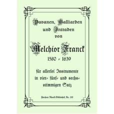 Melchior Franck, Intraden