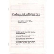 Choralkantate - Wir glauben Gott im höchsten Thron