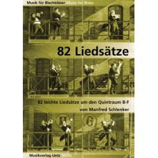 82 Leichte Liedsätze im Quintraum B-F